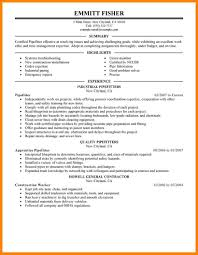 Construction Skilled Trades Resume List Of Skilled Trades Resume