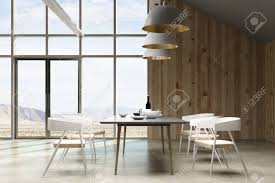 contemporary loft furniture. Contemporary Loft Living Room/ Restaurant Interior With Furniture And Landscape View. 3D Rendering Stock F