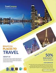 Free Travel Agency Flyer Template Word Psd Apple Pages