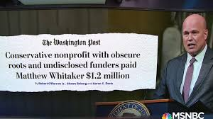 Image result for Whitaker and $1.2 million