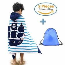 Bath Towels Sunny Bear 100 Cotton Hooded Beach Bath Towel And Bag Set Large For Kidsponcho Swim Beach Towel Pirate Ship Pattern 414 Years Elsewhere Shop Sunny Bear 100 Cotton Hooded Beach Bath Towel And Bag Set Large For