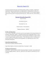 How To Write A Profile For A Resume Entry Level Security Guard Templates 10 Security  Guard
