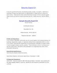 security job resume