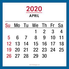2020 Monthly Calendars Printable Free Sunday Start Blue