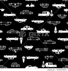 可愛い車のパターンのイラスト素材 40695929 Pixta