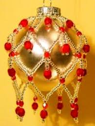 Beaded Christmas Ornaments Patterns Delectable Beaded Christmas Ornament Pattern Jewelry Making Blog Tutorials