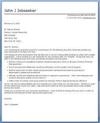 Medical Lab Technician Resume Sample Inspiration Lab Tech Resume Lovely Cover Letter Medical Laboratory Technician