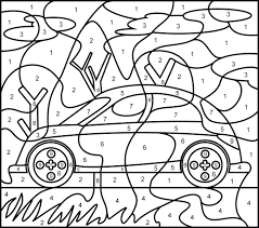 Coloring Pages With Numbers Coloring Pages By Number Number Color