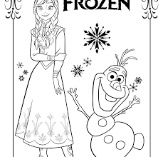 Frozen Coloring Pages Elsa Let It Go Free Printable Disney To Print
