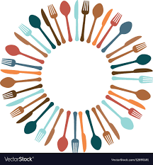 Colorful kitchen utensils icon image Royalty Free Vector