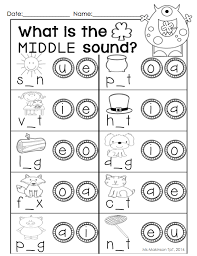 Cvc worksheets for teaching and learning in the classroom or at home. March Printable Packet Kindergarten Literacy And Math Middle Sounds Worksheet Kindergarten Literacy Kindergarten Reading
