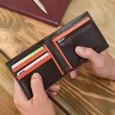 personalised italian leather wallet with coin section jpg