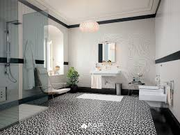 Black And White Patterned Floor Tiles Custom Patterned Black White Floor Modern Bathroom Brisbane By