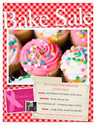 bake fundraiser flyer christmas bake flyer template