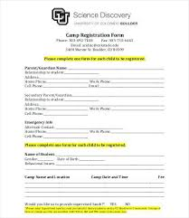 Seminar Registration Form Template Word Weekly Great Free Event ...
