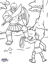 David Goliath Coloring Page For Kids Church Craft Ideas And Agmcme