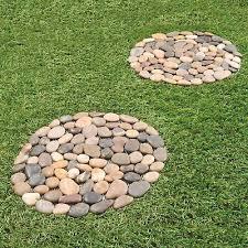 garden path pebble stepping stones set