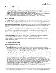 Skills Summary Resume Examples Resume P Resume Professional Summary