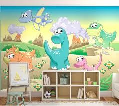 kids wallpaper dinosaur wall mural