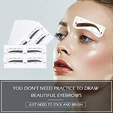 eyebrow stencil ruler shaping template adhesive permanent makeup stencils microblading supplies