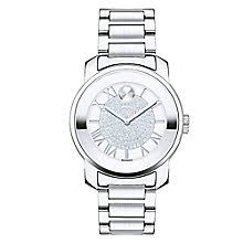 movado watches ladies men s movado designer watches ernest jones movado bold ladies stainless steel pave set bracelet watch product number 2180618