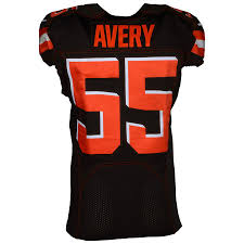 Browns On 2018 Game-used Vs Falcons 11 November Avery Genard Brown Cleveland 55 Jersey Atlanta