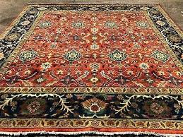 10x10 square rug hand knotted wool handmade rugs oriental rust red ft area 10x10 square rug