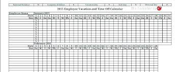 Vacation Calendar Templates Calendar Schedule Template Excel Holiday Vacation 2017 Employee