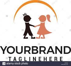 Couple Template Wedding Couple Logo Design Template Stock Vector Art Illustration