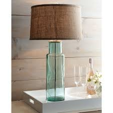 recycled glass lighting. bluegreen recycled glass lamp lighting