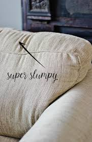 how to fix your couch cushions when they are sagging