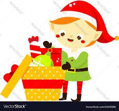 Design Pack Gifts Christmas Elf Cute Santa Helper Pack Gifts