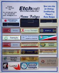 Sample Name Badge Etchcraft Gallery Name Badges