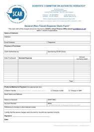 2017 Scar General Claim Form