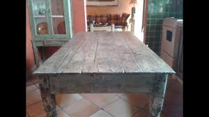 Original Rustic Small Kitchen Table Antique Youtube