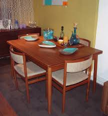 Teak Dining Room Table And Chairs Scandinavian Teak Dining Room - Dining room furnishings
