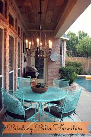 best paint for outdoor furnitureCrafty Texas Girls Painted Patio Furniture