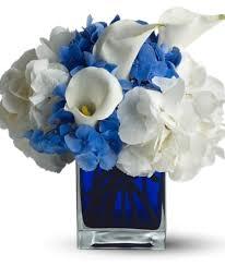 ... blue contemporary glass cube vase. dec1a3