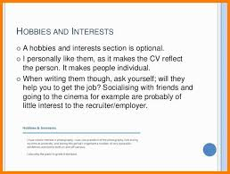 Hobbies And Interests Resume Inspiration 8711 Example Of Hobbies And Interestresume Interests Examples Beautiful
