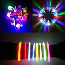"180 Pcs LED Glow in the Dark Party Favors Pack. 8"" Glow Sticks Bracelet"