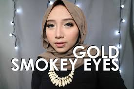 gold smokey eye with mauve lips kondangan makeup tutorial promnight tutorial you