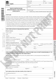 Death – Verification Of Death And Medical Certificate Of Cause Of Death
