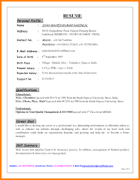 Resume Profile Resumes Personal Summary Examples Of Samples For