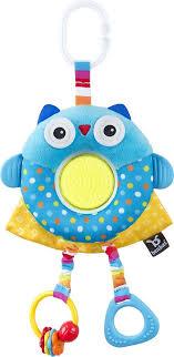 <b>Подвесная игрушка Benbat</b> On-the-<b>Go</b> Toys Сова, TT114, синий ...