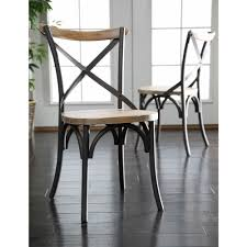 metal dining chairs. Brilliant Dining Walker Edison Furniture Company Brown Wood And Metal Dining Chair Set Of 2 On Chairs