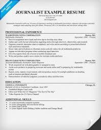 Journalism Resume Examples Best Of Sample Resume For Journalist Mesmerizing Journalism Resume