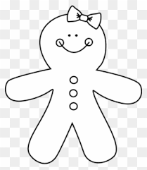 gingerbread cookie clipart black and white. Beautiful Gingerbread Black And White Gingerbread Girl Clip Art  Disguise A Man Intended Cookie Clipart M