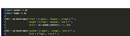 merge two dataframes pandas with same