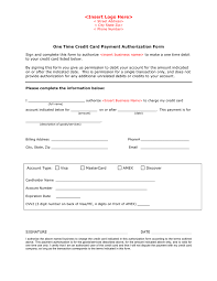 Credit Card Payment Authorization Form Template In Word And Pdf Formats