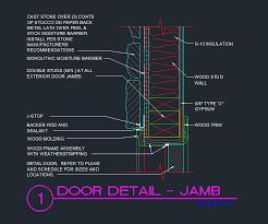 Exterior door jamb detail Thickness Door Door Jamb Exterior Wood Stud With Cast Stone Exterior Cad Files Dwg Files Plans And Details Planmarketplace Door Jamb Exterior Wood Stud With Cast Stone Exterior Cad Files